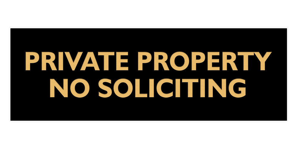 Signs ByLITA Basic Private Property No Soliciting Sign