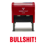 Red BULLSHIT! Self Inking Rubber Stamp