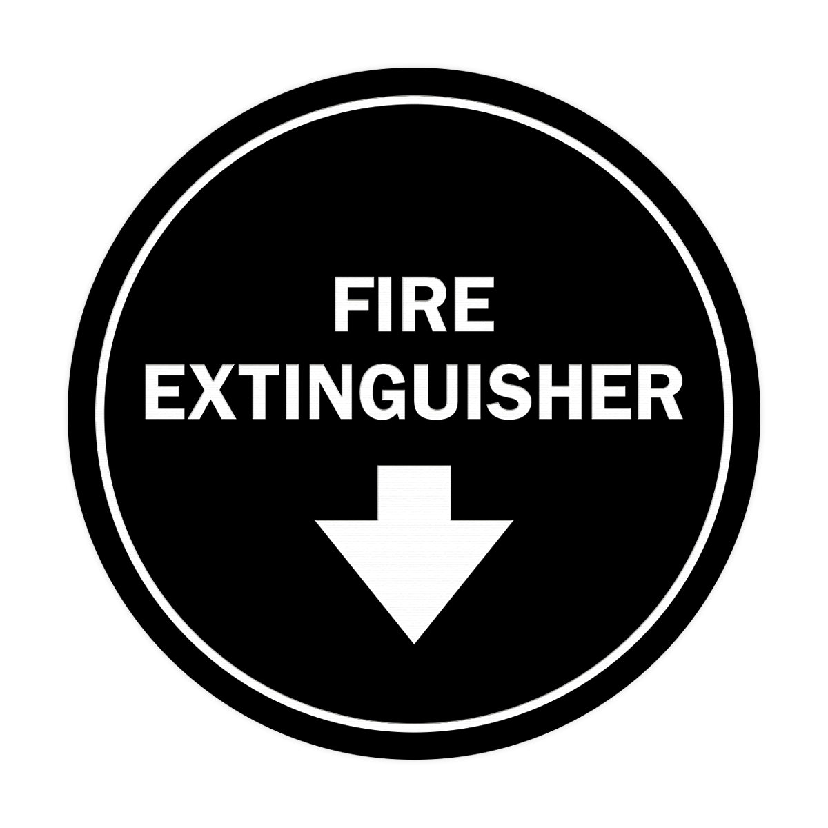 Signs ByLITA Circle Fire Extinguisher Sign