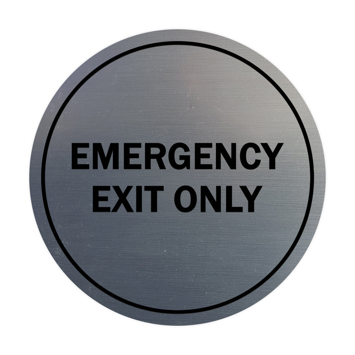 Signs ByLITA Circle Emergency Exit Only Sign