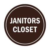 Signs ByLITA Circle Janitors Closet Sign