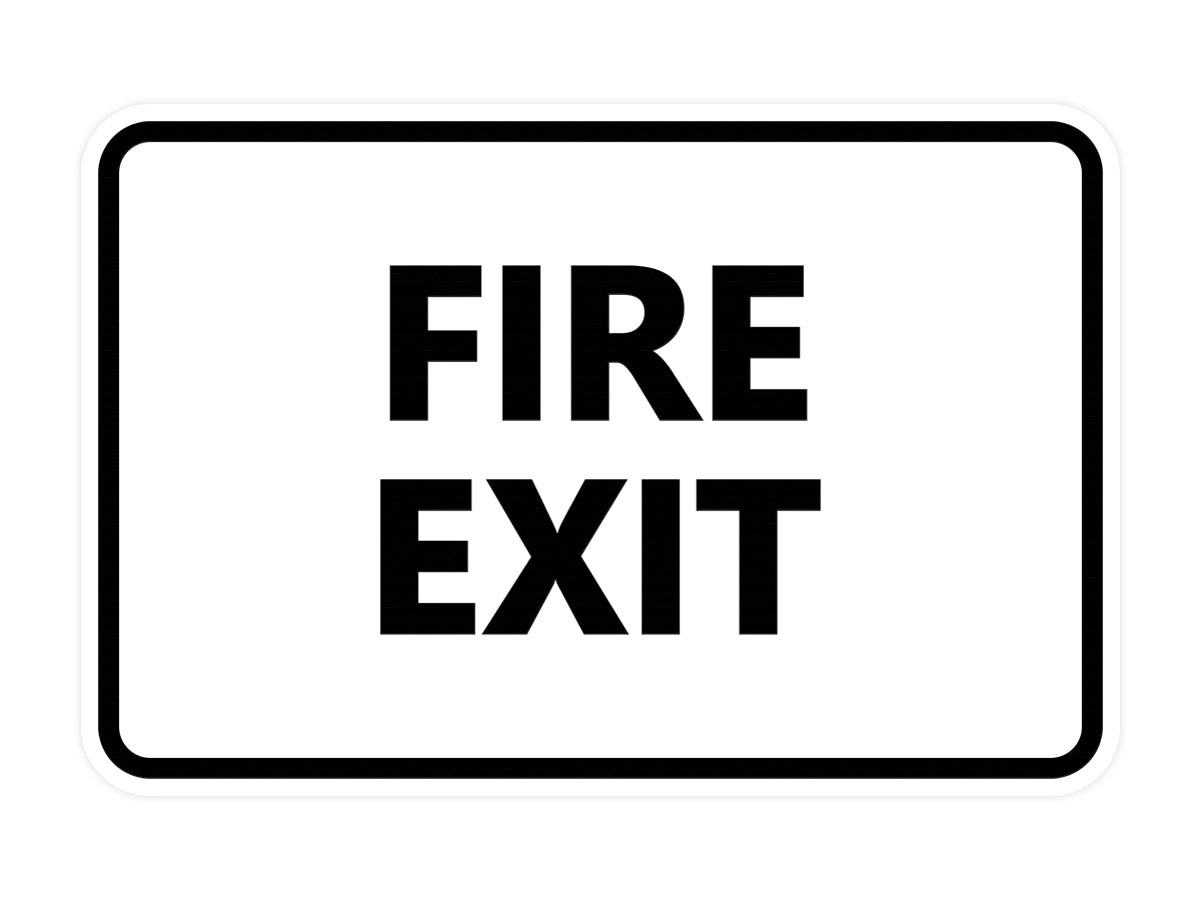Signs ByLITA Classic Fire Exit Sign