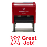GREAT JOB Teacher Self Inking Rubber Stamp