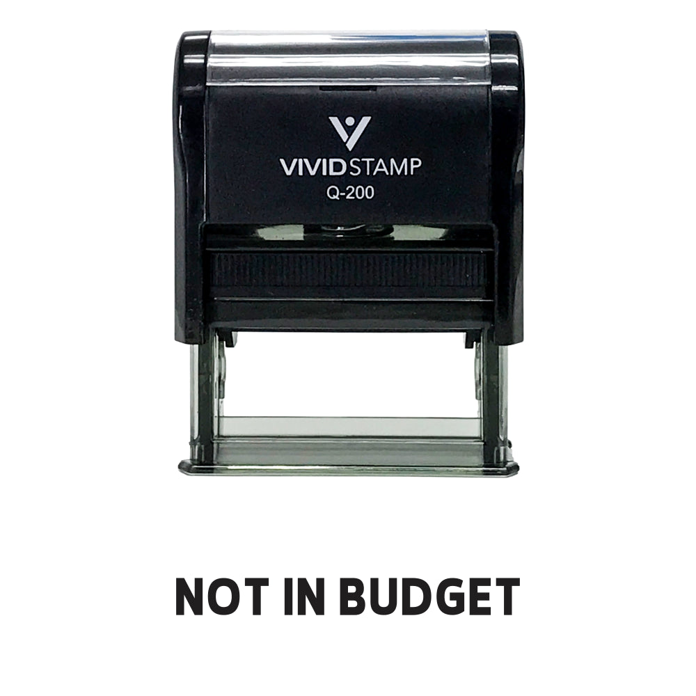 Not In Budget Self Inking Rubber Stamp