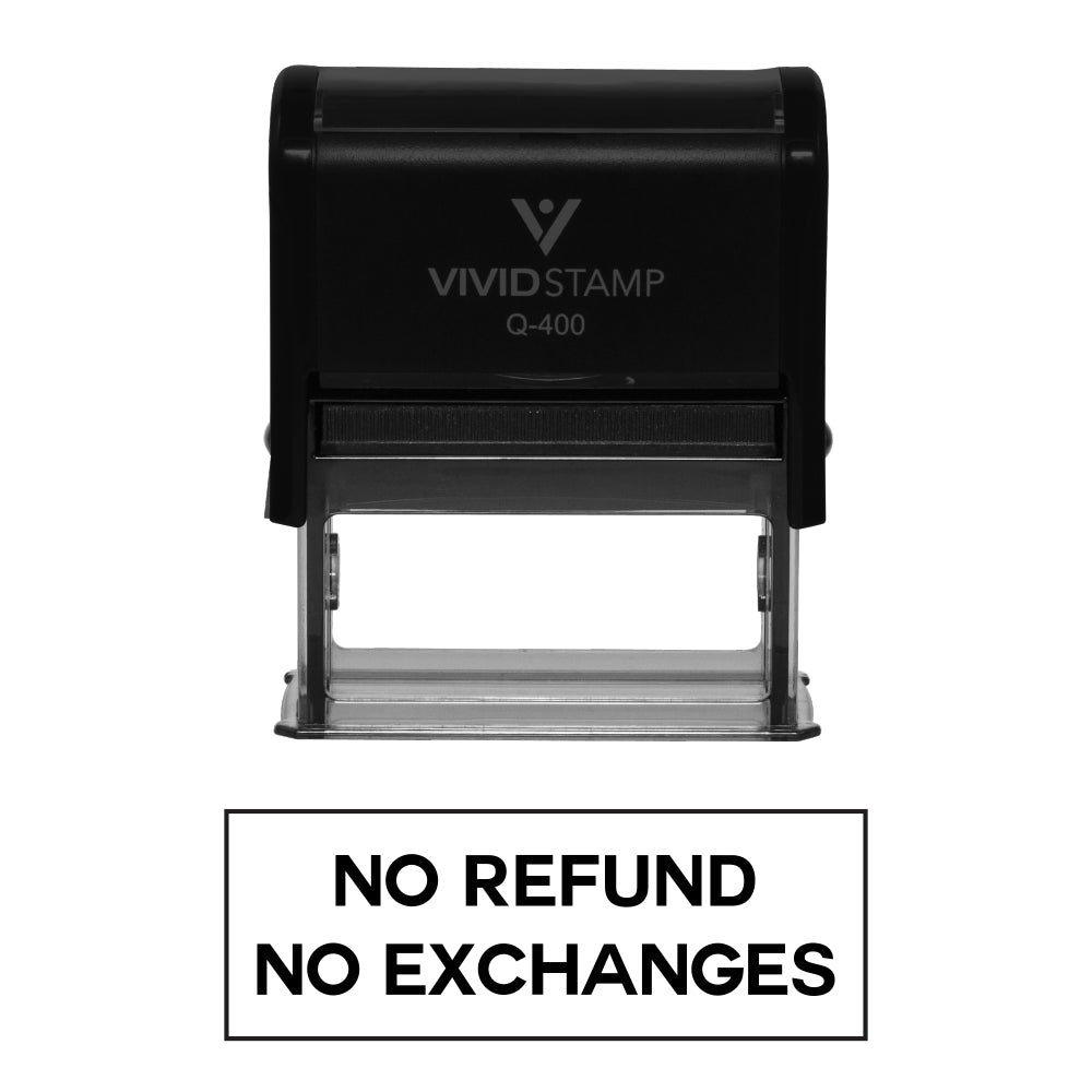 No Refunds No Exchanges Self Inking Rubber Stamp