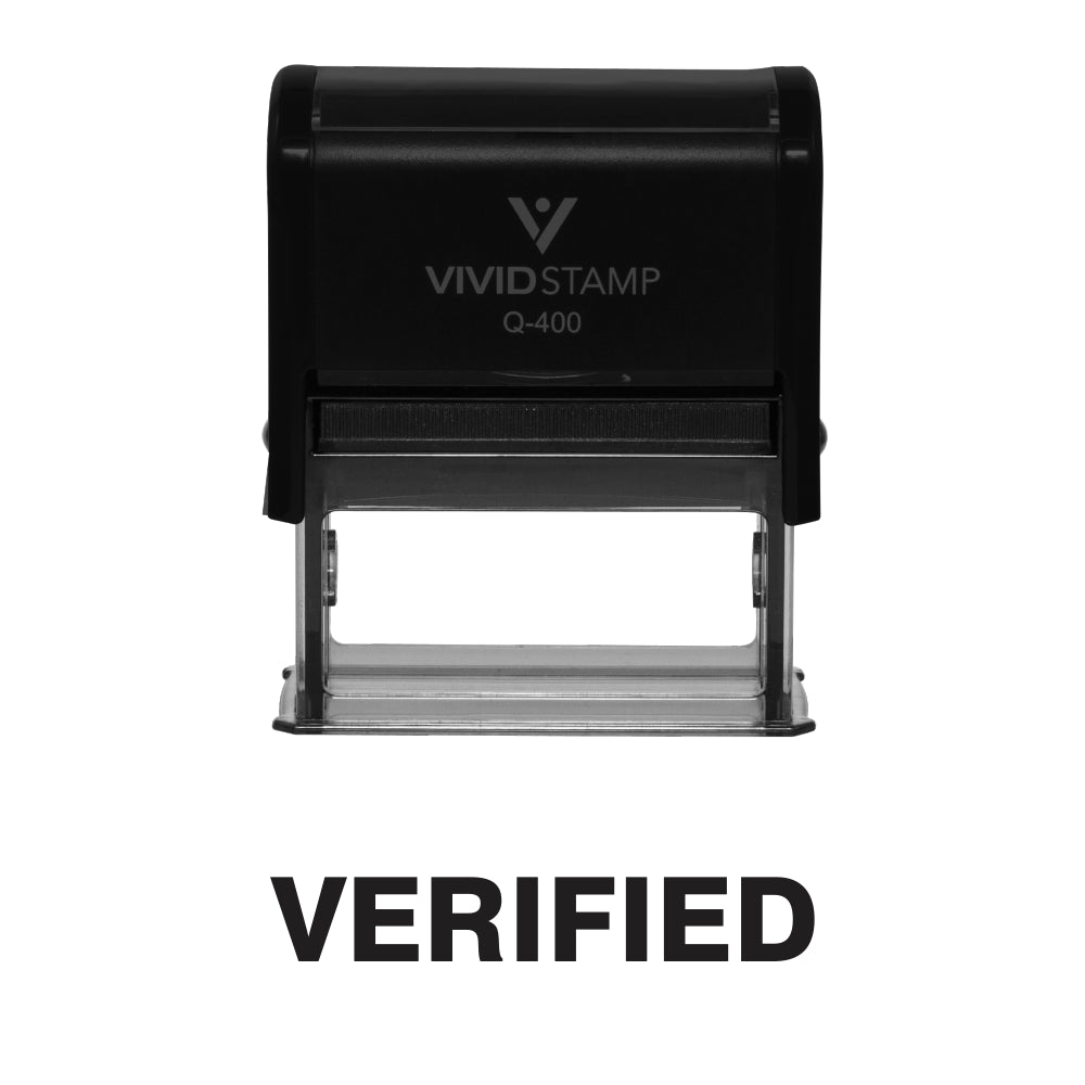 Black Verified Self Inking Rubber Stamp
