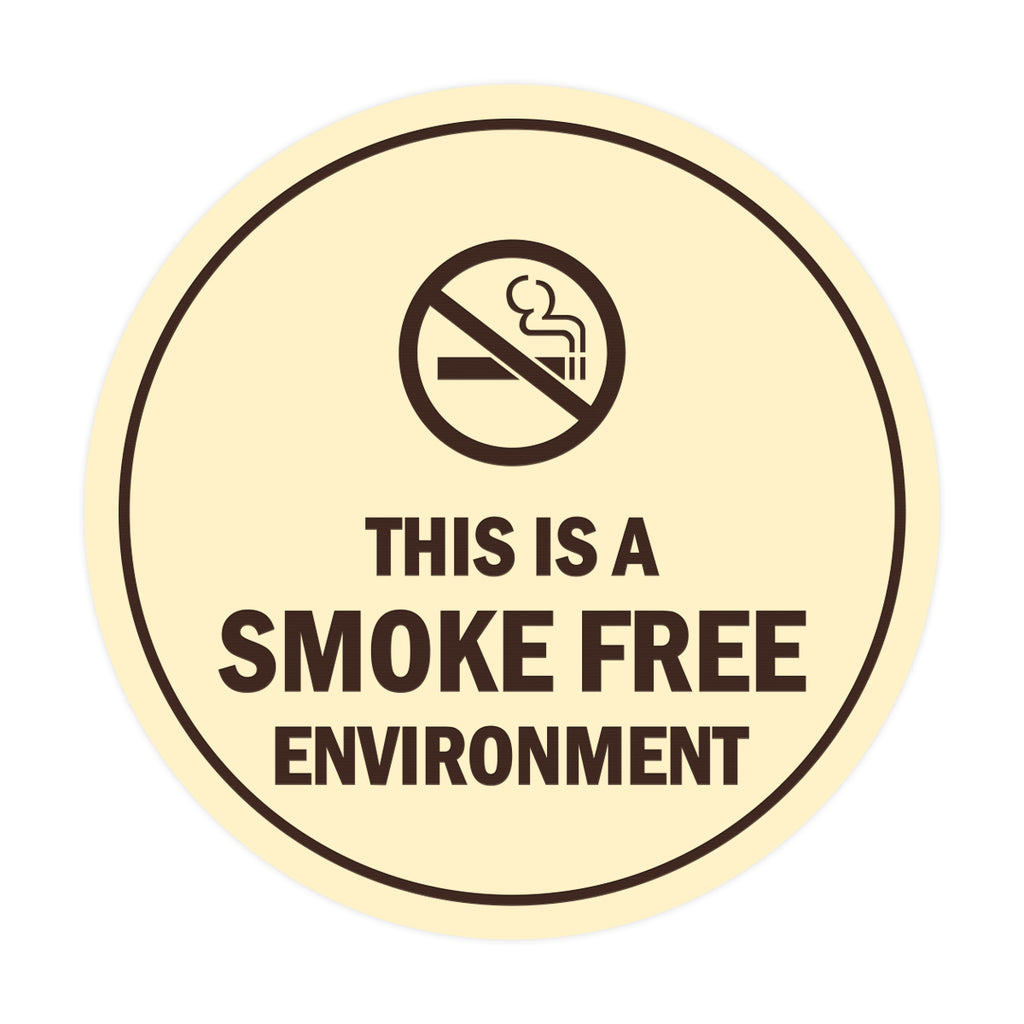 Signs ByLITA Circle This Is A Smoke Free Environment Sign
