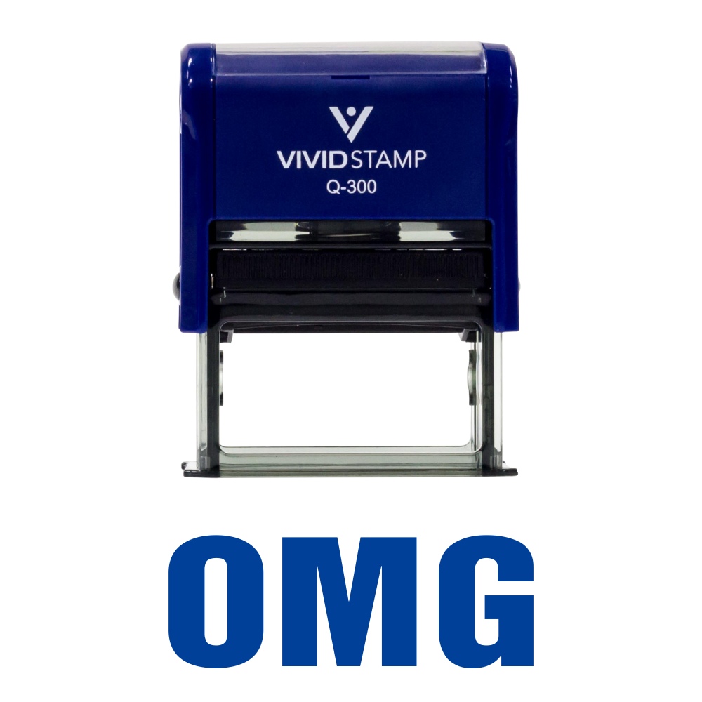 OMG Self Inking Rubber Stamp