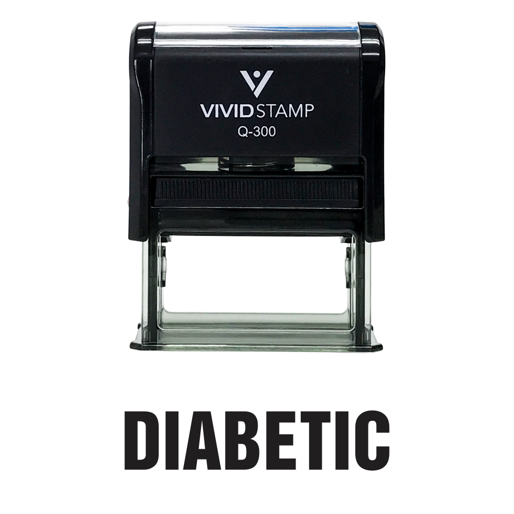 Diabetic Self Inking Rubber Stamp