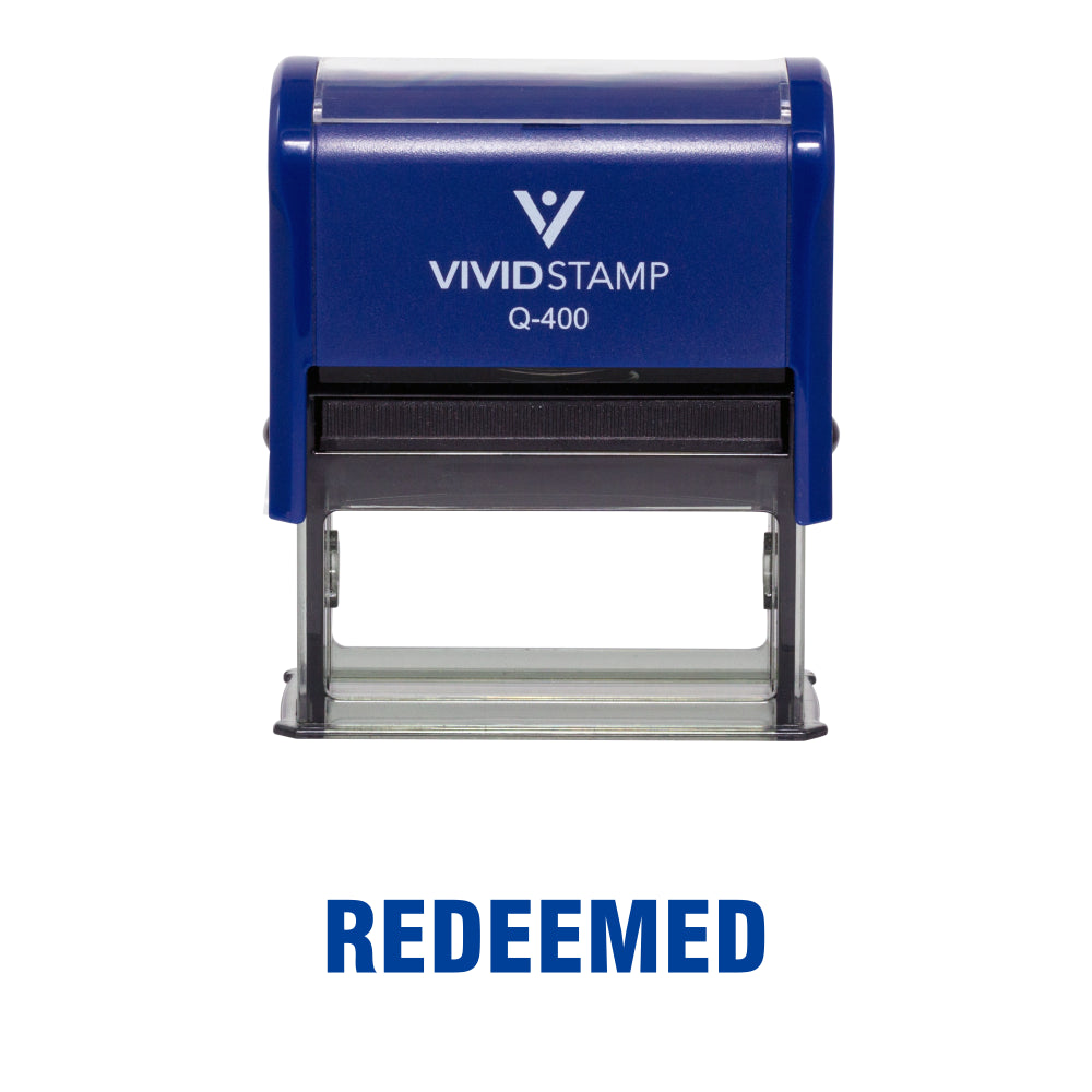 REDEEMED Self Inking Rubber Stamp