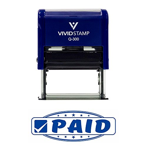 Paid Designer Office Self-Inking Office Rubber Stamp