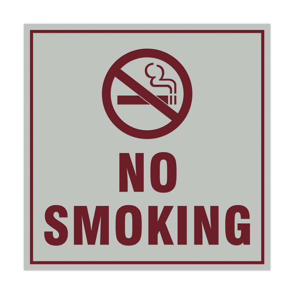 Square No Smoking Sign