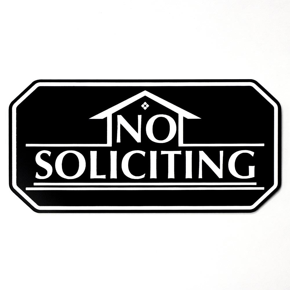 No Soliciting House Design
