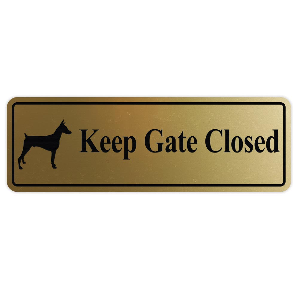 KEEP GATE CLOSED Dog Sign