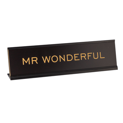 "Mr Wonderful 2""x8"" Novelty Nameplate Desk Sign"