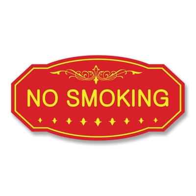 Victorian No Smoking Sign