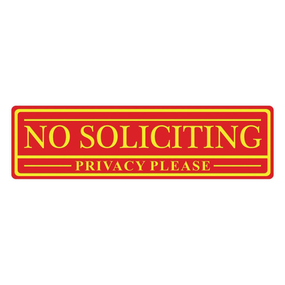 No Soliciting Privacy Please Sign