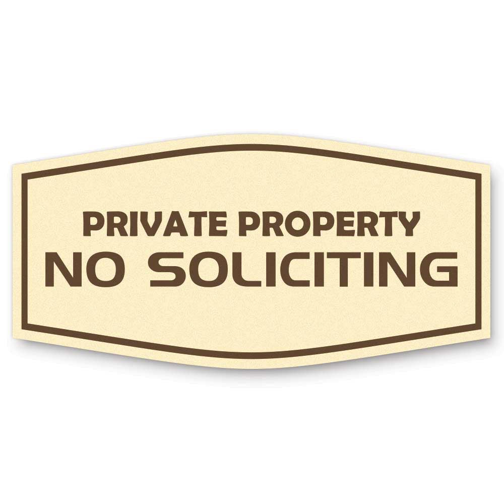 Private Property No Soliciting Sign