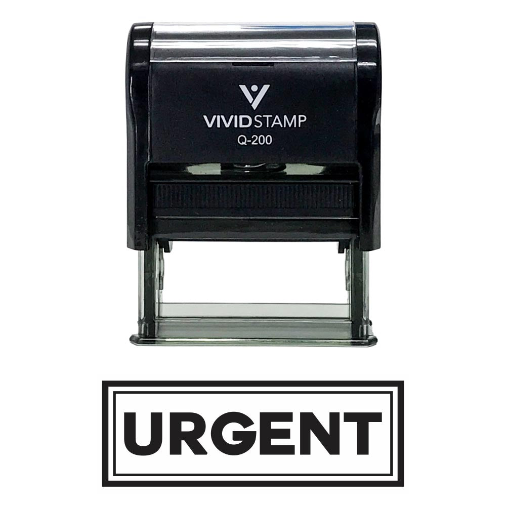 URGENT w/ Border Office Self-Inking Rubber Stamp