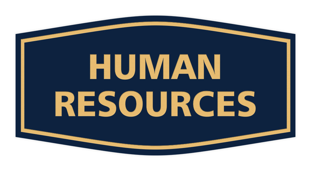 Signs ByLITA Fancy Human Resources Sign with Adhesive Tape, Mounts On Any Surface, Weather Resistant, Indoor/Outdoor Use