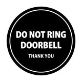 Signs ByLITA Circle Do Not Ring Doorbell Sign