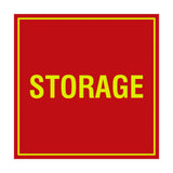 Red / Yellow Signs ByLITA Square Storage Sign