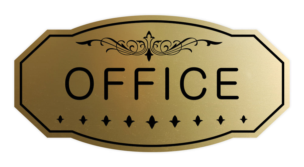 Victorian Office Sign