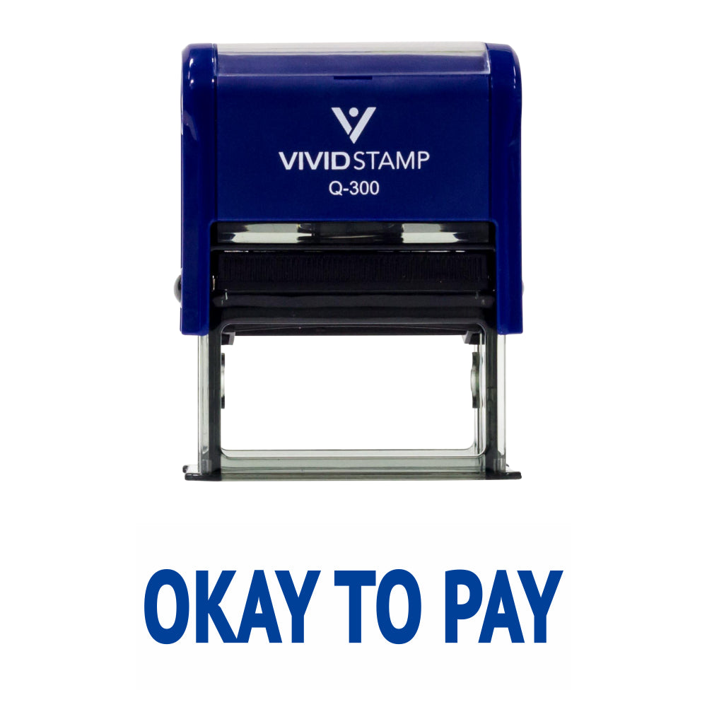 Okay To Pay Self Inking Rubber Stamp