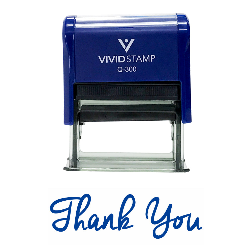 Blue THANK YOU Self-Inking Rubber Stamp
