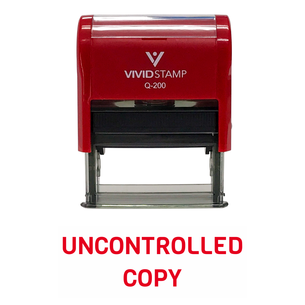 UNCONTROLLED COPY Self Inking Rubber Stamp