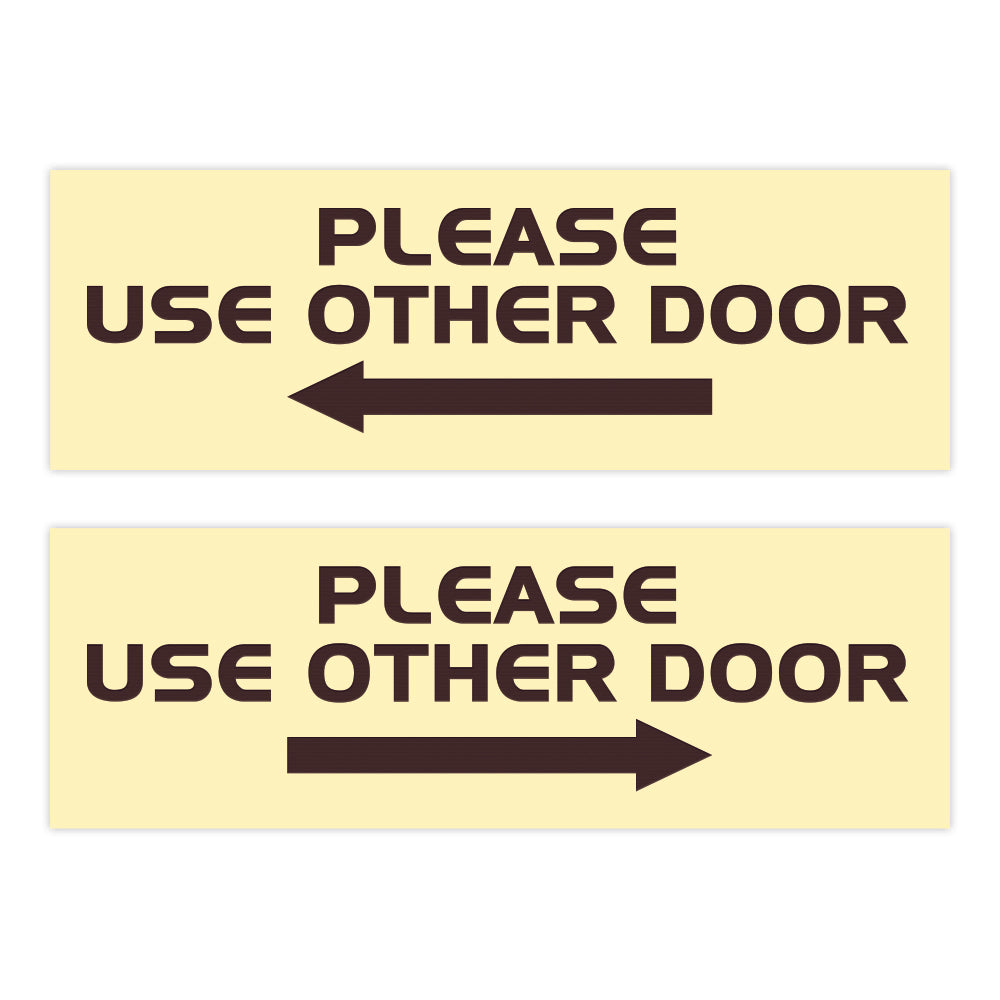 All Quality PLEASE USE OTHER DOOR Sign - (2 Pack)