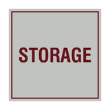 Light Grey / Burgundy Signs ByLITA Square Storage Sign