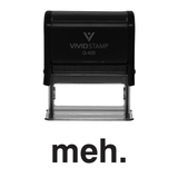 Black MEH Self Inking Rubber Stamp