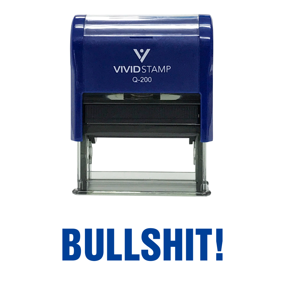 Blue BULLSHIT! Self Inking Rubber Stamp