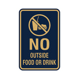 Portrait Round No Outside Food Or Drink Sign
