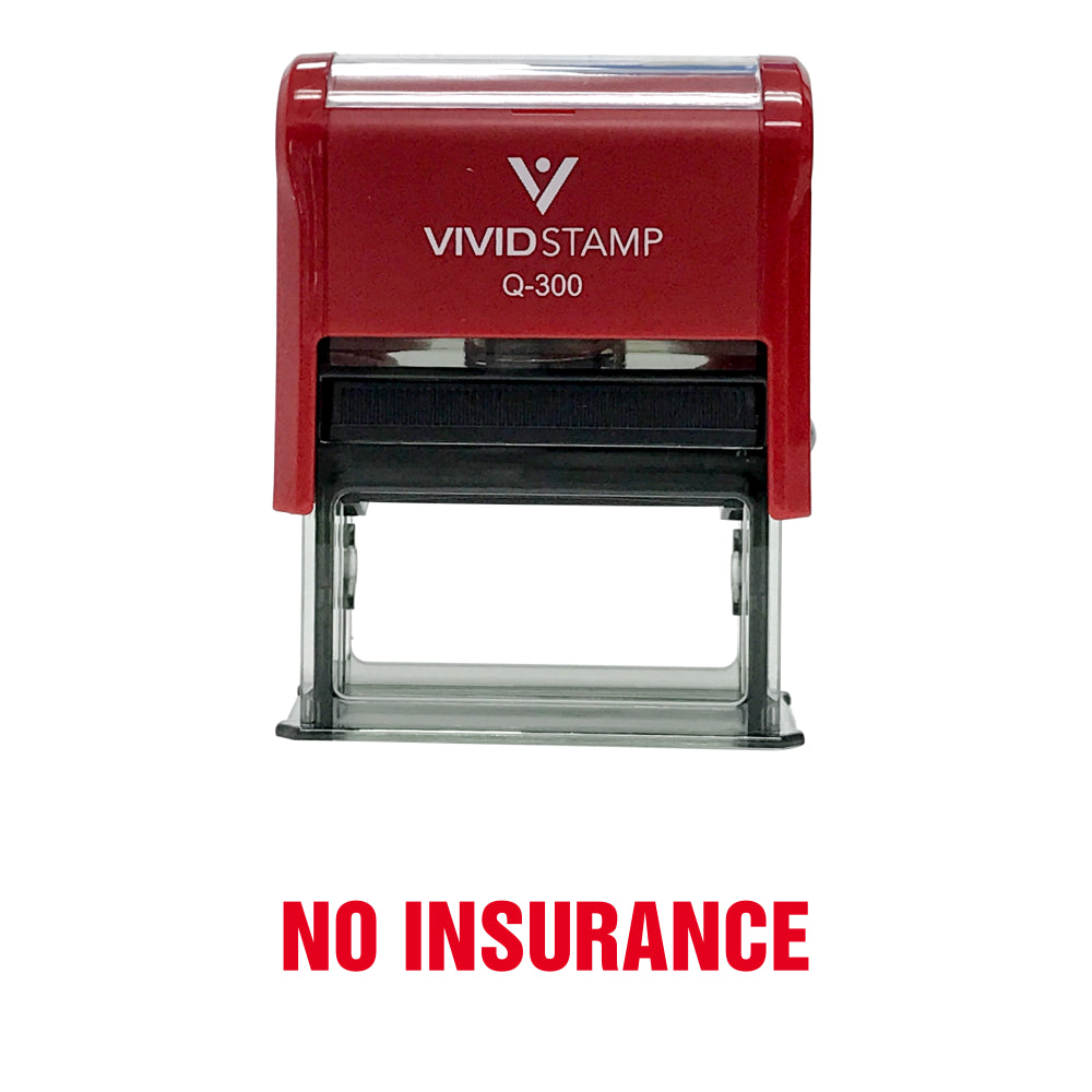 No Insurance Self Inking Rubber Stamp