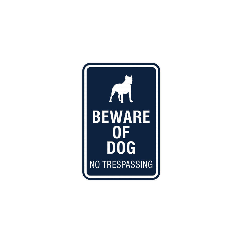 Signs ByLITA Portrait Round Beware of dog no trespassing Sign