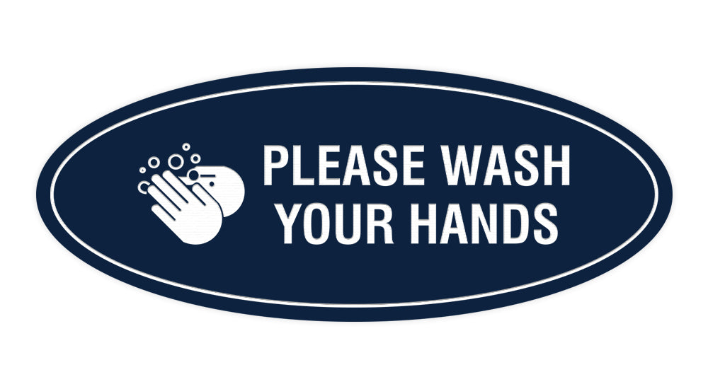 Signs ByLITA Oval Please Wash Your Hands Sign