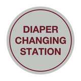 Signs ByLITA Circle Diaper Changing Station Sign