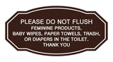 Victorian Please Do Not Flush Etiquette Sign