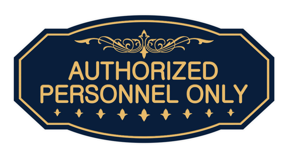 Signs ByLITA Victorian Authorized Personnel Only Sign