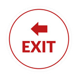 Signs ByLITA Circle Exit-Left Sign