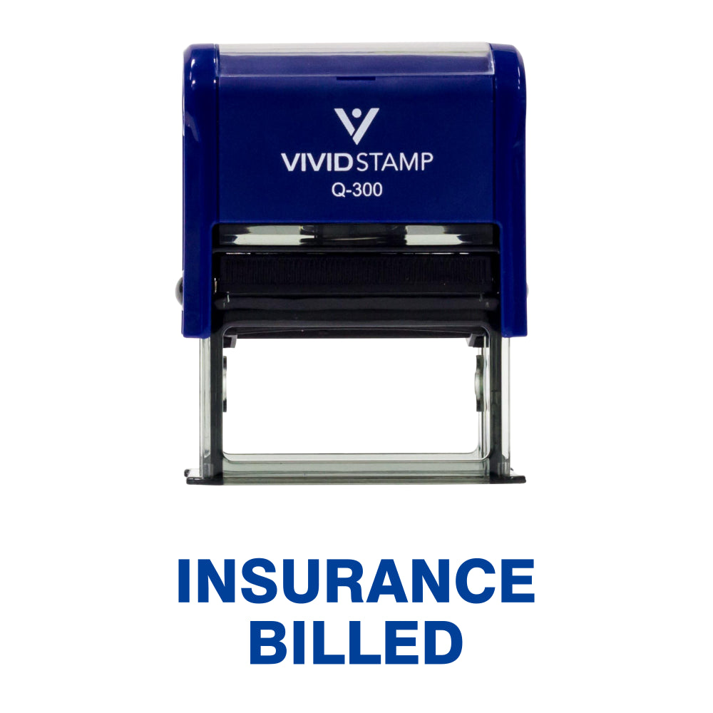 Insurance Billed Medical Self Inking Rubber Stamp
