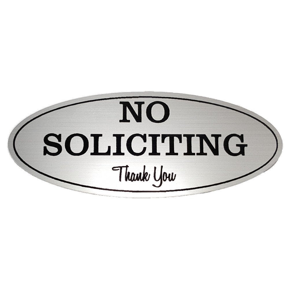 oval no soliciting