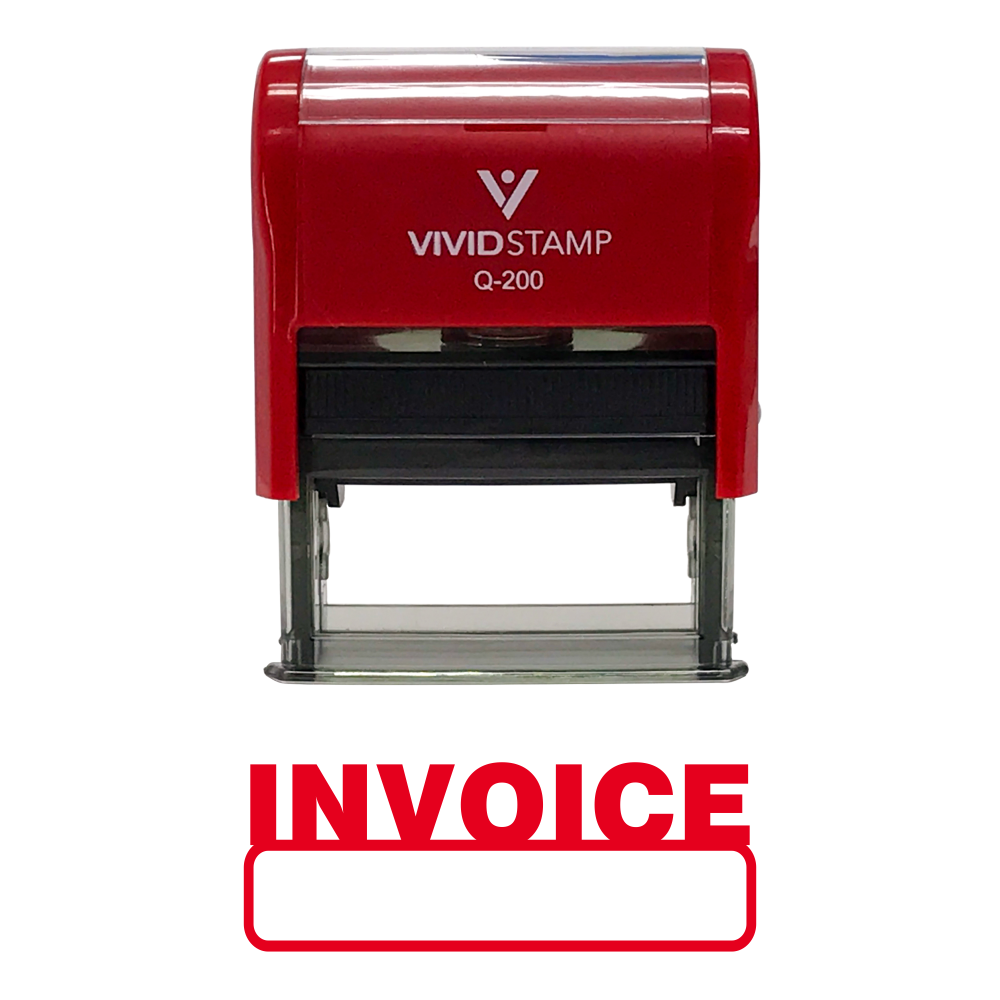 Basic Invoice Self Inking Rubber Stamp