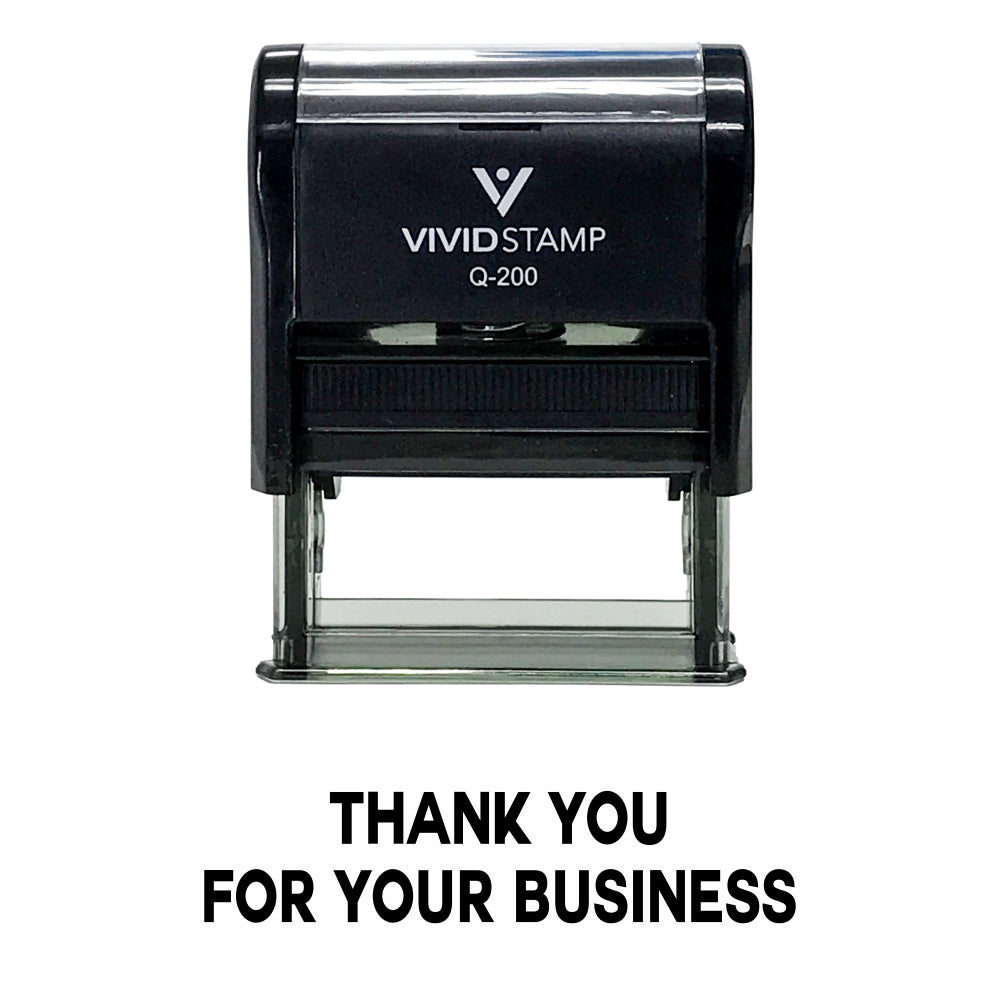 Black THANK YOU FOR YOUR BUSINESS Self Inking Rubber Stamp