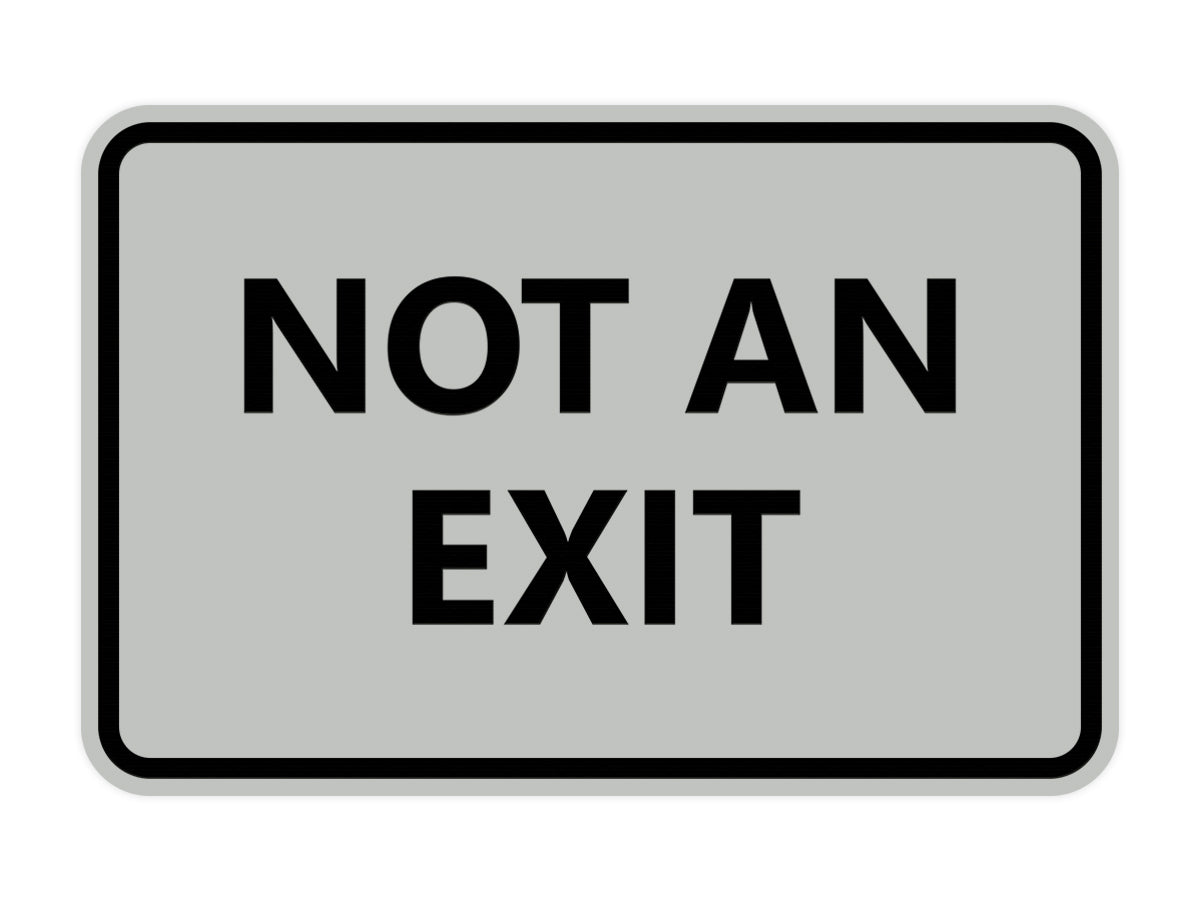 Signs ByLITA Classic Framed Not an Exit Sign