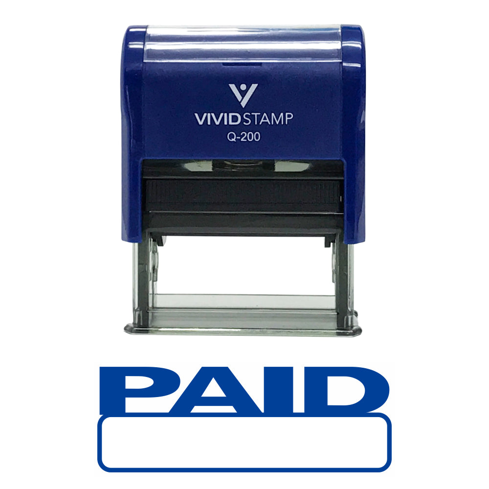 Basic Paid Self Inking Rubber Stamp