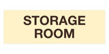 Ivory / Dark Brown Signs ByLITA Basic Storage Room