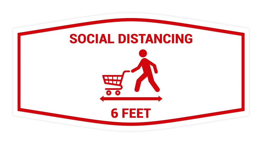 Signs ByLITA Fancy Social Distancing 6 Feet Sign